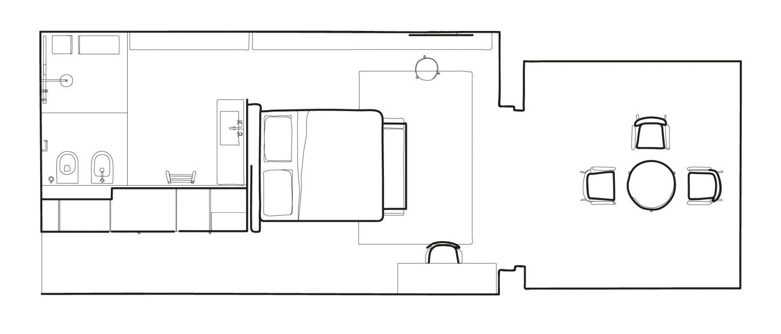 cdl illustrazione camera f nero floorplan