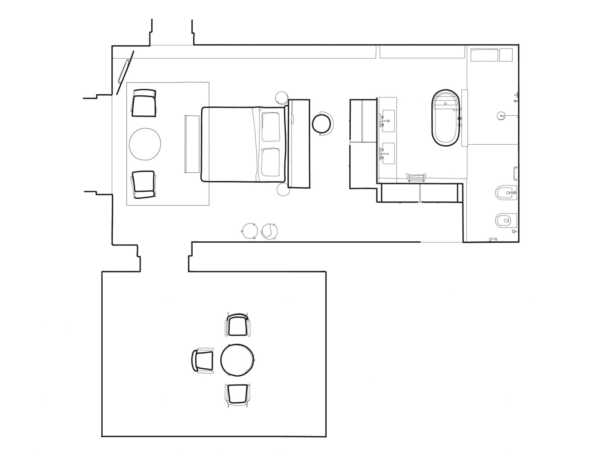 deluxe suite floorplan